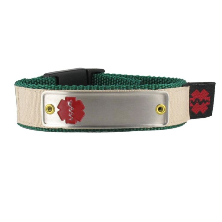 Stainless Steel Classic Red Nylon Sportband