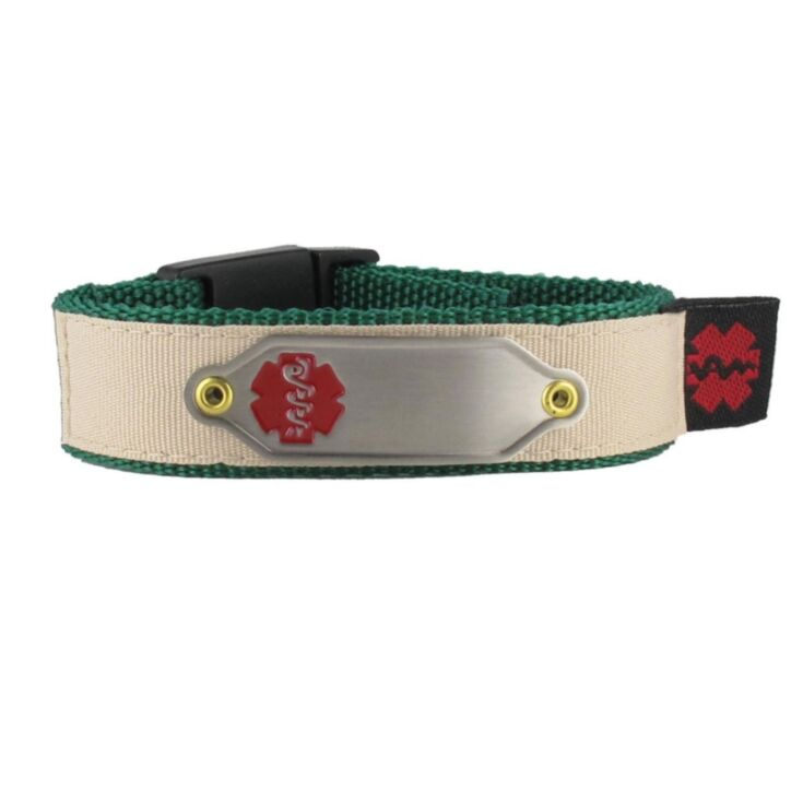 Stainless Steel Classic Small Red Nylon Sportband