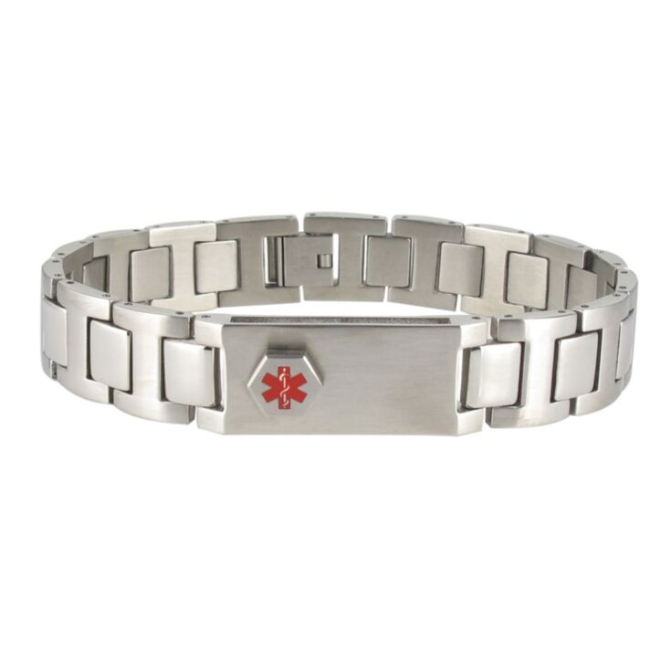 lynx stainless steel usb, unisex medical id bracelet with hidden compartment